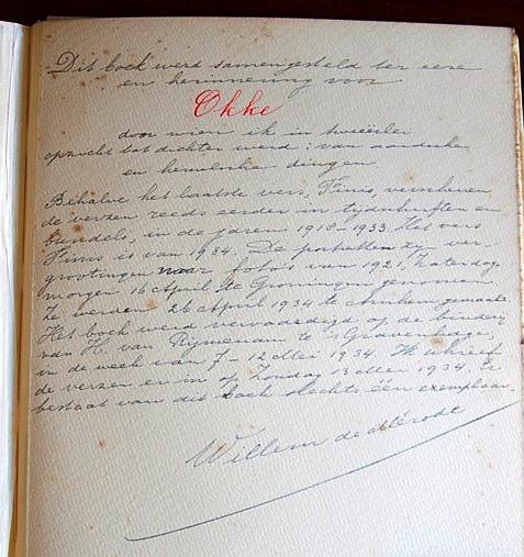 achterblad van het boek Okke