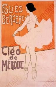 posteraankondiging Cleo de Mérode