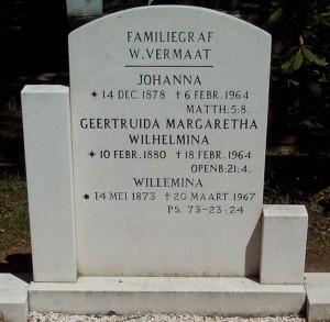 Graf Wilma Vermaat en zusters, Beekbergen