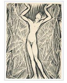 Ganymedes, houtsnede van Johan Dijkstra