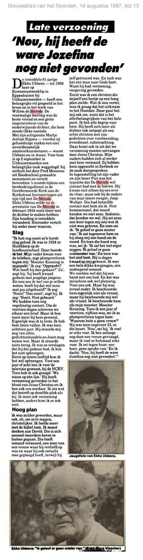 Nieuwsblad van het Noorden - 14 augustus 1987