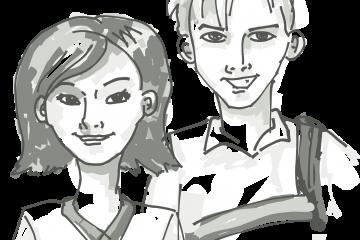 broer en zus, tieners